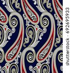 traditional indian paisley... | Shutterstock .eps vector #692695933