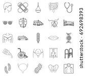 treatment icons set. outline... | Shutterstock .eps vector #692698393