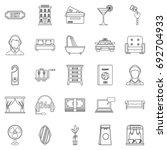 lodging icons set. outline set... | Shutterstock .eps vector #692704933