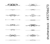 calligraphic frame divider... | Shutterstock .eps vector #692706673