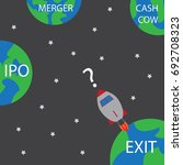 startup rocket question where... | Shutterstock .eps vector #692708323