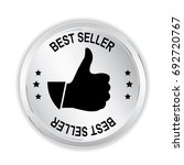 best seller silver sign with... | Shutterstock .eps vector #692720767