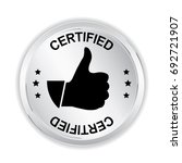 certified silver sign with... | Shutterstock .eps vector #692721907