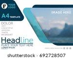 blue flyer cover business... | Shutterstock .eps vector #692728507