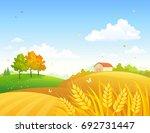 vector cartoon drawing of an... | Shutterstock .eps vector #692731447