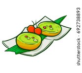cute and funny indonesian snack ... | Shutterstock .eps vector #692738893