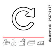 reload line icon. refresh symbol   Shutterstock .eps vector #692749657