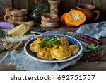 Ravioli From A Pumpkin On A...