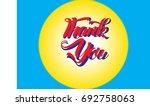 thank you message card... | Shutterstock .eps vector #692758063