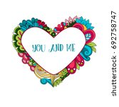 Floral Heart Frame With Quote...