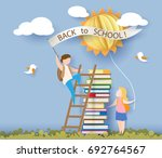 back to school 1 september card ... | Shutterstock .eps vector #692764567