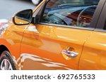 rearview mirror on the motor... | Shutterstock . vector #692765533