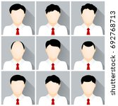 vector set of businessman icons | Shutterstock .eps vector #692768713