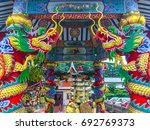 dragon statues of beautiful... | Shutterstock . vector #692769373