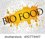 bio food word cloud collage ... | Shutterstock . vector #692773447