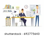 office scene   vector... | Shutterstock .eps vector #692775643