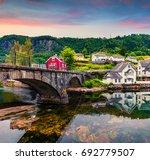 fantastic summer sunrise in...   Shutterstock . vector #692779507