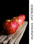 red apples put on wooden with... | Shutterstock . vector #692780833