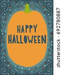 happy halloween card ... | Shutterstock .eps vector #692780887