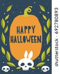 halloween card  background ... | Shutterstock .eps vector #692780893