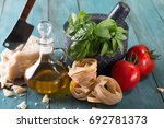 italian and mediterranean food... | Shutterstock . vector #692781373