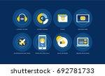 living online  what the...   Shutterstock .eps vector #692781733