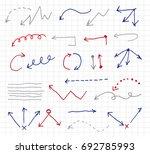doodle arrow set | Shutterstock .eps vector #692785993