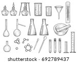 chemistry or physics equipments ... | Shutterstock .eps vector #692789437