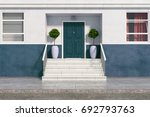 front view of building with... | Shutterstock . vector #692793763