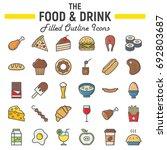 food and drink filled outline... | Shutterstock .eps vector #692803687