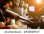filming with professional... | Shutterstock . vector #692808937