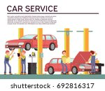 automobile service and vehicle... | Shutterstock .eps vector #692816317