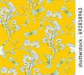 seamless pattern in the... | Shutterstock .eps vector #692818963