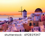 vector greece island summer... | Shutterstock .eps vector #692819347