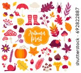 autumn design elements. leaves  ... | Shutterstock .eps vector #692822887