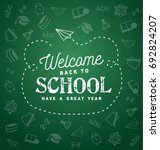 welcome back to school... | Shutterstock .eps vector #692824207