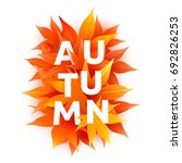 fall sale. realistic autumn... | Shutterstock .eps vector #692826253