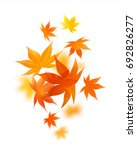 realistic autumn maple leaves... | Shutterstock .eps vector #692826277
