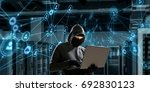 computer privacy attack. mixed...   Shutterstock . vector #692830123