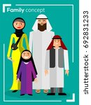 vector family  man  woman and... | Shutterstock .eps vector #692831233