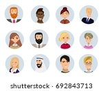 set of diverse round avatars... | Shutterstock .eps vector #692843713