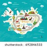 iceland map vector illustration.... | Shutterstock . vector #692846533