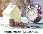 pile of money  coins  growing...   Shutterstock . vector #692854057