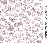 seamless pattern of doodle... | Shutterstock . vector #692854357
