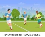 vector illustration of cheerful ... | Shutterstock .eps vector #692864653