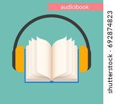 the audiobook icon. vector...