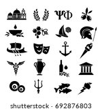 greek vector icon set | Shutterstock .eps vector #692876803