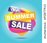 summer sale banner. sale 50off. ... | Shutterstock .eps vector #692877913