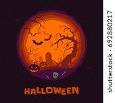 Halloween Poster Of Pumpkin ...