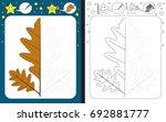 preschool worksheet for... | Shutterstock .eps vector #692881777